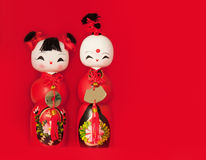Two Chinese dolls Stock Photography