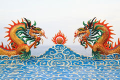 Two chinese dragon statue Stock Photo