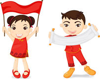 Two chinese kids Royalty Free Stock Photos