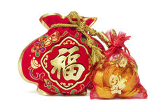 Two Chinese New Year Gift Bags Royalty Free Stock Image