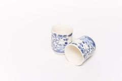 Two Chinese Tea cup. This is white tea cup design Chinese style Stock Images