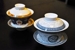 Two Chinese tea cups Royalty Free Stock Photo