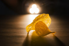 Two chips against the light Royalty Free Stock Image