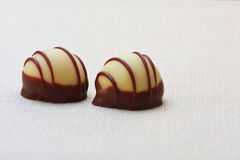 Two choco marzipan Stock Photo