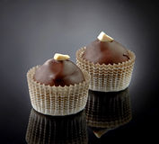 Two chocolate candies Stock Photos