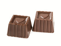 Two chocolate candies Royalty Free Stock Image