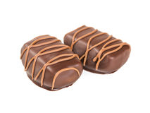 Two chocolate candies Royalty Free Stock Photo