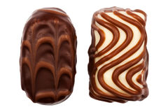 Two chocolate candies Stock Images