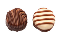 Two chocolate candies Stock Photography