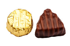 Two chocolate candies Stock Image