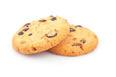Two chocolate chips cookies Royalty Free Stock Photo
