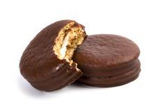 Two Chocolate Cookies Stock Photos
