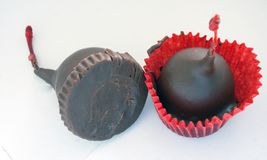 Chocolate Covered Cherries-- Bottom and Top stock image