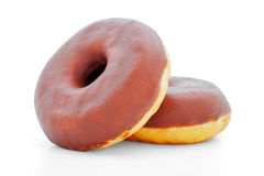 Two chocolate donuts Royalty Free Stock Image