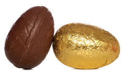 Two chocolate easter eggs Stock Photo