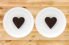 Two chocolate valentines Royalty Free Stock Images