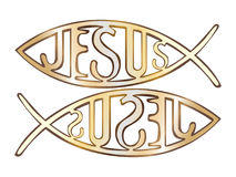 Two christian fish symbol. Illustration Royalty Free Stock Image