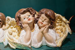 Two Christmas angel figurines Stock Photo