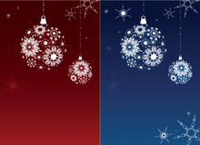 Two Christmas backgrounds. Stock Images
