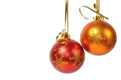 Two christmas ball Royalty Free Stock Photography