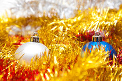 Two Christmas balls Stock Images