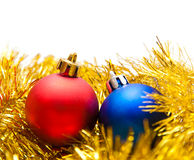 Two Christmas balls Royalty Free Stock Images