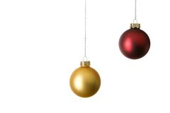 Two christmas balls Stock Photos