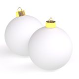 Two christmas balls Royalty Free Stock Photo