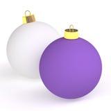 Two christmas balls Stock Photos