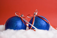 Two christmas balls Royalty Free Stock Image