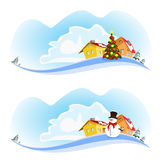 Two Christmas banner Royalty Free Stock Image