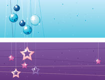 Two Christmas banners Royalty Free Stock Photography