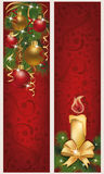 Two christmas banners. Vector illustration Royalty Free Stock Photo
