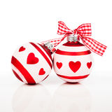 Two Christmas baubles Stock Images