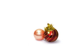 Two Christmas baubles Royalty Free Stock Photo