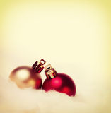 Two Christmas baubles Royalty Free Stock Images