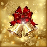 Two Christmas bells Stock Image