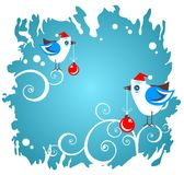 Two christmas birds Royalty Free Stock Image