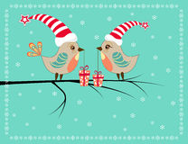 Two Christmas birds. Royalty Free Stock Photography