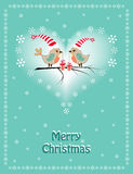 Two Christmas birds. Royalty Free Stock Photo