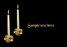 Two christmas candles Royalty Free Stock Photo