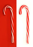 Two christmas candy canes Stock Photos