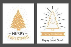 Christmas Cards stock illustration