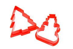Two Christmas Cookie Cutters Royalty Free Stock Photography