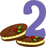 Two christmas cookies Stock Images