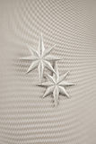 Two christmas decoration silver stars Stock Photo