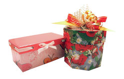 Two christmas gifts Stock Photography