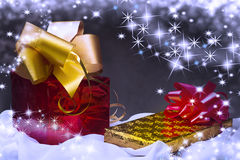 Two christmas gifts Stock Image