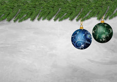 Two christmas ornament Royalty Free Stock Image