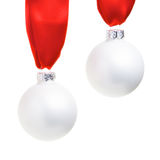 Two christmas ornaments Stock Images